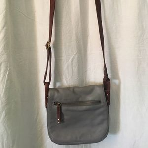 Fossil crossbody purse in gray